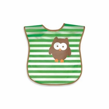 iPlay Wash 'n Wipe Bib - Green Owl (Stage 4)