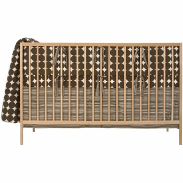 DwellStudio 4 Piece Baby Crib Bedding Dots in Chocolate Stripes