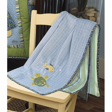 CoCaLo Turtle Reef Appliqued Sherpa Blanket