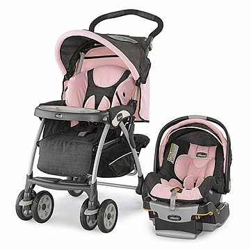 Chicco KeyFit 30 Cortina Travel System Bella Pink