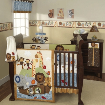 Lambs & Ivy S.S. Noah 4 Piece Crib Bedding Set