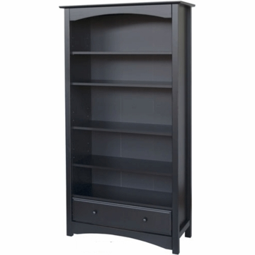 DaVinci Roxanne 5 Shelf Bookcase in Ebony