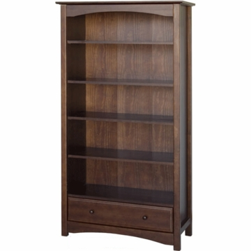 DaVinci Roxanne 5 Shelf Bookcase in Espresso