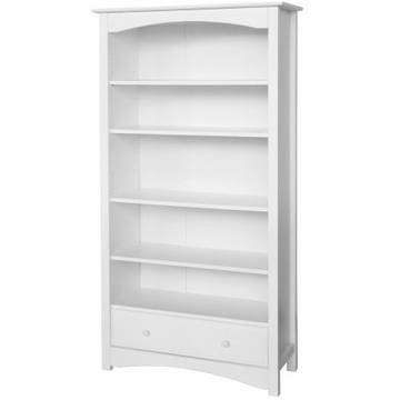 DaVinci Roxanne 5 Shelf Bookcase in White
