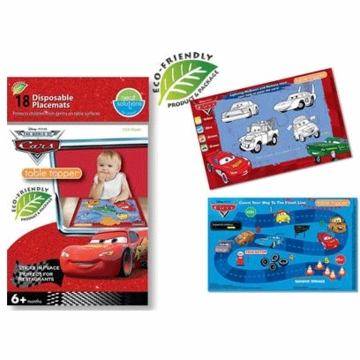 Neat Solutions Pixar Cars Biodegradable Table Toppers - 18 Count
