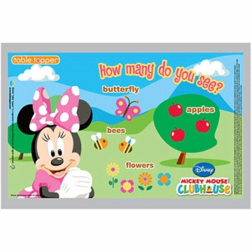 Neat Solutions Minnie Biodegradable Table Toppers - 18 Count