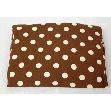 My Baby Sam Mad About Plaid Big Brown Dot Crib Sheet