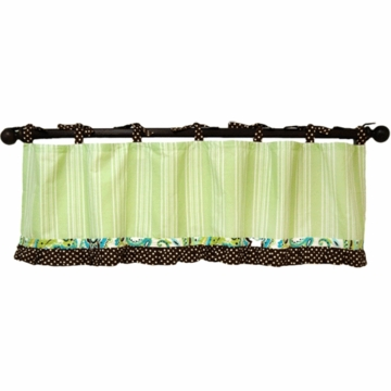 My Baby Sam Paisley Splash in Lime Window Valance