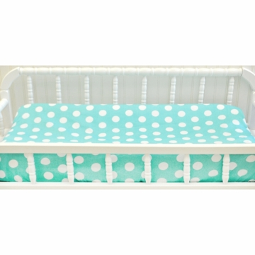 My Baby Sam Pixie Baby Aqua Contour Changing Pad Cover
