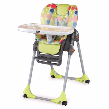 Chicco Polly High Chair Double Pad in Splash