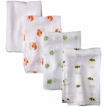 Aden & Anais Swaddle Wrap 4 Pack - Life's a Hoot