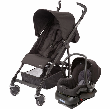 Maxi Cosi Kaia Stroller and Mico Car Seat Travel System - Total Black
