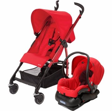 Maxi Cosi Kaia Stroller and Mico Car Seat Travel System - Intense Red