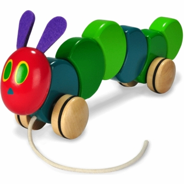 "Kids Preferred 13"" The Very Hungry Caterpillar Wood Pull Toy"