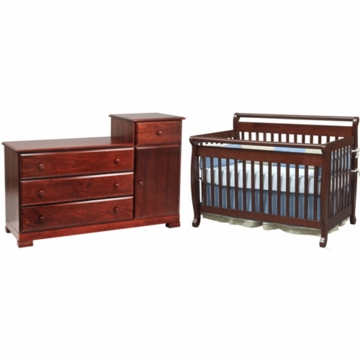 DaVinci Emily 4 in 1 Convertible Crib & Kalani Combo Changer/Dresser 2 Piece Nursery Set in Cherry
