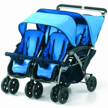 Foundations Quad 4-Passenger Stroller - Blue