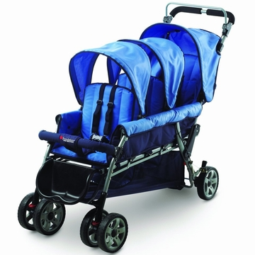 Foundations Trio Triple Tandem Stroller - Blue