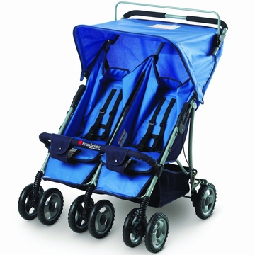 Foundations Duo-SS Double Side by Side Stroller - Blue