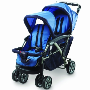 Foundations Duo Double Tandem Stroller - Blue