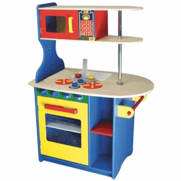 KidKraft Island Kitchen in Primary Colors