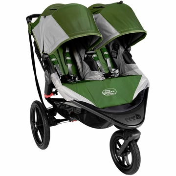 Baby Jogger Summit X3 Double Stroller - Green / Gray