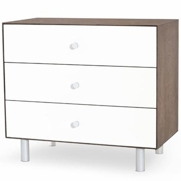 Oeuf Merlin 3 Drawer Dresser - Classic Base - Walnut/White