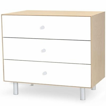 Oeuf Merlin 3 Drawer Dresser - Classic Base - Birch/White