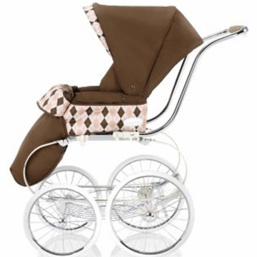 Inglesina Classica Stroller Seat with Hood & Boot Cover in Argyle Pink