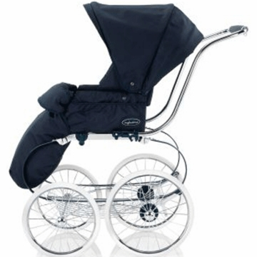 Inglesina Classica Stroller Seat with Hood & Boot Cover in Navy