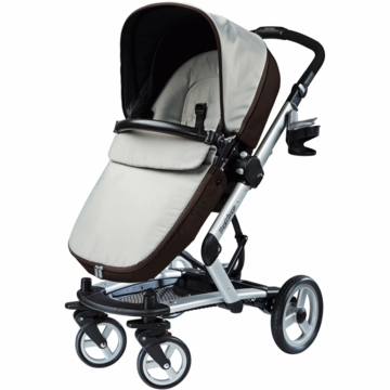 Peg Perego Skate Stroller with Bassinet in Java
