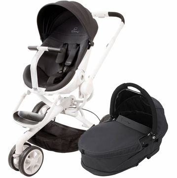 Quinny Moodd Stroller & Bassinet - Black Irony/Black