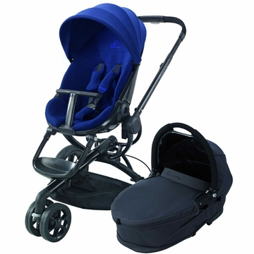 Quinny Moodd Stroller & Bassinet - Blue Reliance/Black