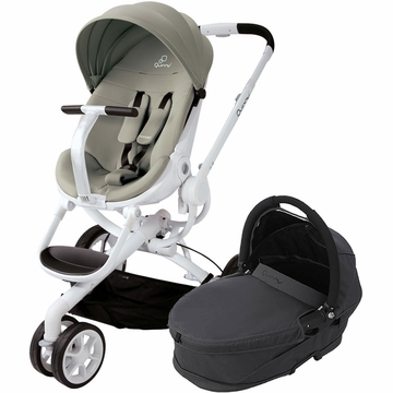 Quinny Moodd Stroller & Bassinet - Natural Delight/Black