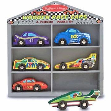Melissa & Doug Wooden Race Cars