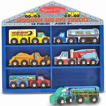 Melissa & Doug Wooden Big-Rig Trucks