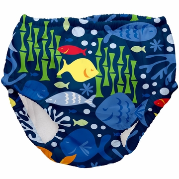 iPlay Ultimate Swim Diaper - Classics Navy Undersea - Large (18 mo)