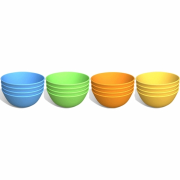 Green Toys Green Eats Snack Bowls- 4 Pack