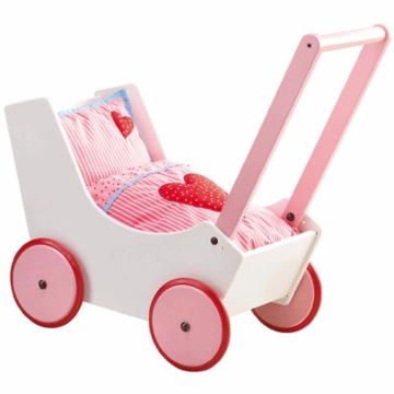Haba Doll Pram - Hearts