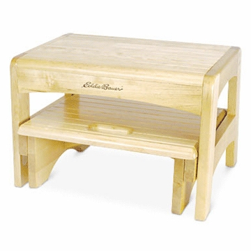 Eddie Bauer Wooden 2-Step Stool