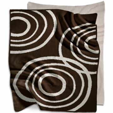 Nook Knitted Organic Cotton Blanket in Bark