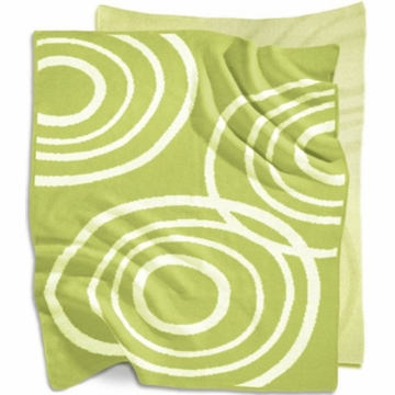 Nook Knitted Organic Cotton Blanket in Lawn