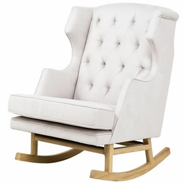 Nurseryworks Empire Rocker in Ecru with Light Base