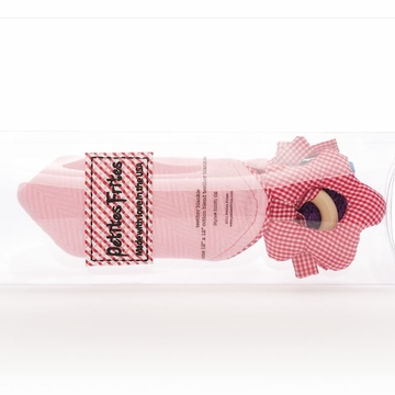 Petites Frites Teether Blankie - Pink