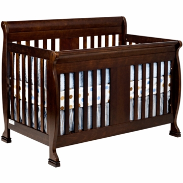 DaVinci Porter Crib with Toddler Rails in Espresso