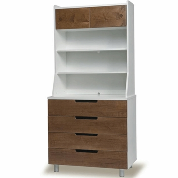 Oeuf Classic Hutch for Classic 4 Drawer Dresser in Walnut