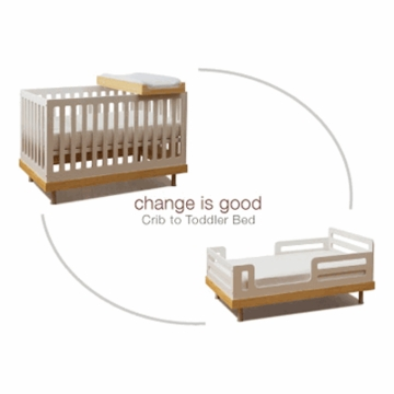 Oeuf Classic Collection Toddler Bed Conversion Kit in White
