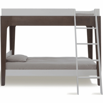 Oeuf Perch Bunk Bed in White/Walnut