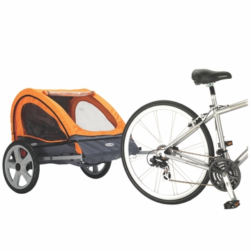 InSTEP Quick N EZ Bicycle Trailer-Double Orange/Gray