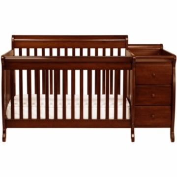 Davinci Kalani Crib & Changer with Toddler Rail with Cherry