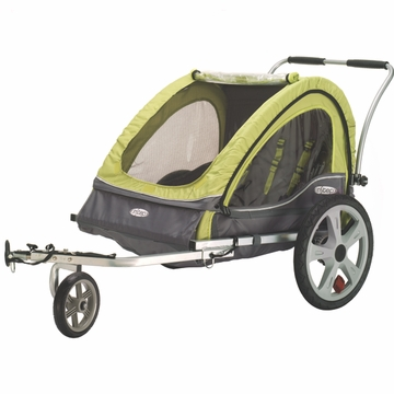 InSTEP Sierra Bicycle Trailer-Double Green/Gray